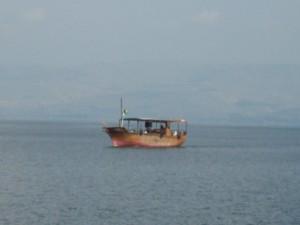 Sailing on the beautiful Sea of Galilee