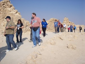 Tour group at Masada.