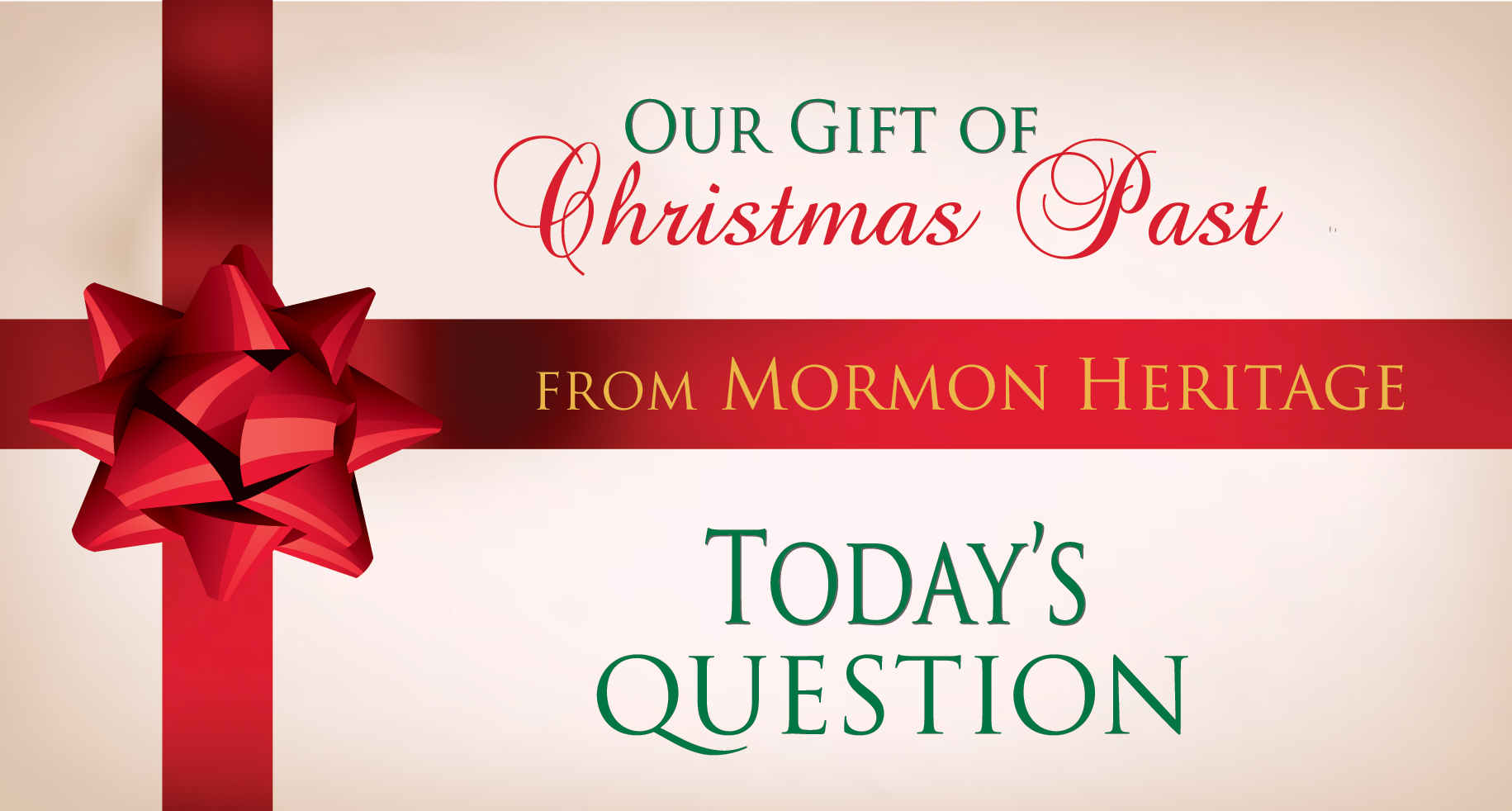 on the first day of christmas past the question is to be - When Is The First Day Of Christmas